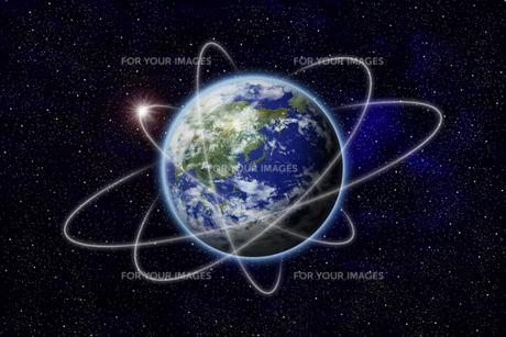地球のネットワークの写真素材 [FYI00073150]