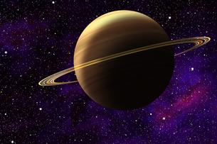 土星のイラストの写真素材 [FYI00073166]