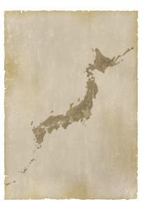 古い日本地図の写真素材 [FYI00073196]