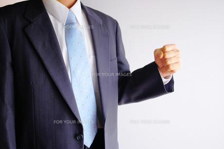 ガッツポーズのビジネスマンの写真素材 [FYI00073230]