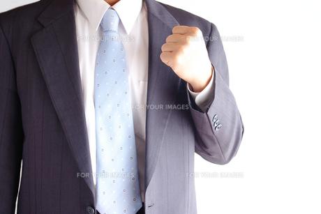ガッツポーズをするビジネスマンの写真素材 [FYI00073239]