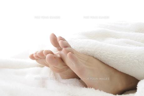 若い女性の足先の写真素材 [FYI00073639]