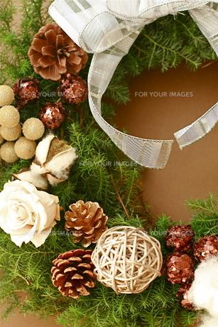 クリスマスリースの写真素材 [FYI00073716]