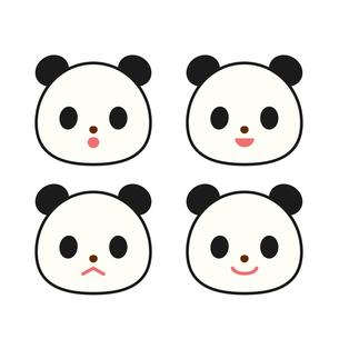 パンダ 表情集の写真素材 [FYI00073739]