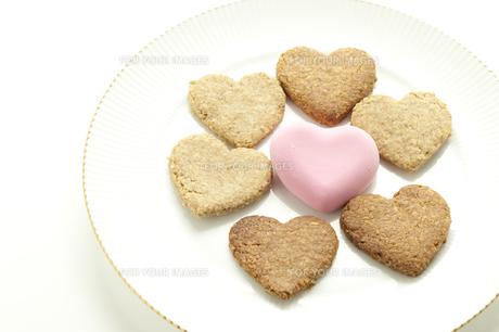 ハートクッキーの写真素材 [FYI00074215]
