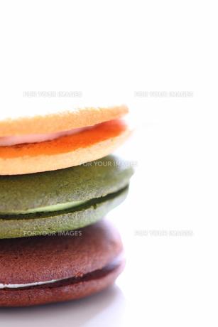 クリームサンドクッキーの写真素材 [FYI00074354]