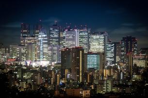 新宿夜景の写真素材 [FYI00075313]