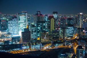 大阪の夜景の写真素材 [FYI00075340]