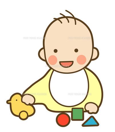 遊ぶ赤ちゃんの写真素材 [FYI00075375]