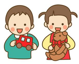 子供とおもちゃの写真素材 [FYI00075462]