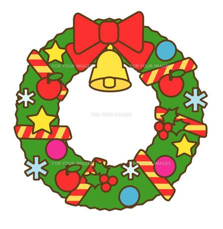 クリスマスリースの写真素材 [FYI00075469]