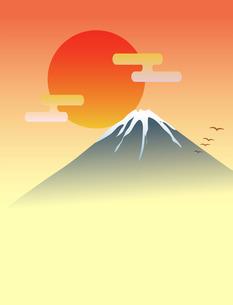 富士山と日の出の素材 [FYI00075476]