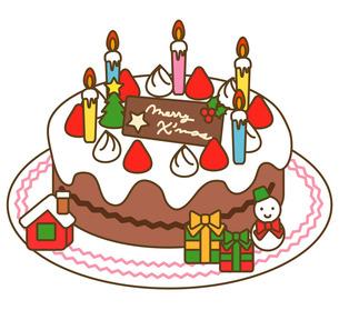 クリスマスケーキの写真素材 [FYI00075477]
