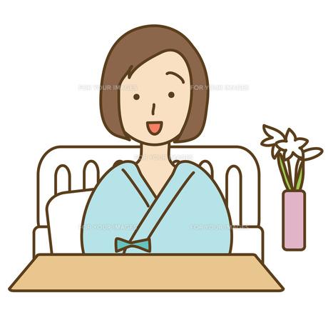 入院中の女性の写真素材 [FYI00075516]