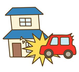 建物と車の衝突の写真素材 [FYI00075544]