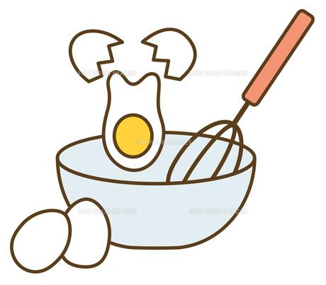 玉子の調理の写真素材 [FYI00075549]
