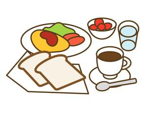 洋風の朝食の写真素材 [FYI00075554]