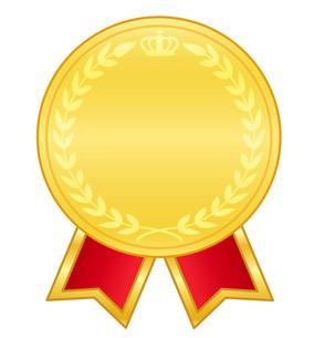リボンとメダルの写真素材 [FYI00075631]