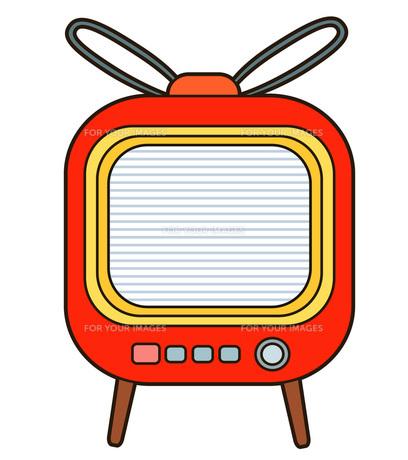 レトロなテレビの写真素材 [FYI00075650]