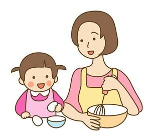 料理をする親子の写真素材 [FYI00075670]
