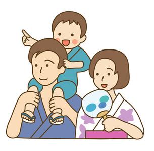 浴衣の親子の写真素材 [FYI00075730]