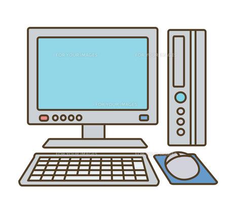 デスクトップPCの写真素材 [FYI00075740]