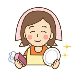 皿洗いをする主婦の写真素材 [FYI00075767]