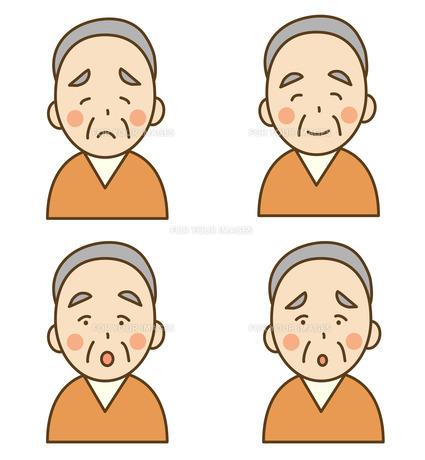 シニア男性の表情の素材 [FYI00075781]