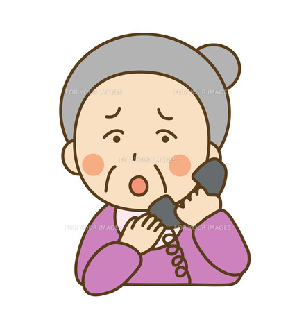 電話する高齢者の素材 [FYI00075802]