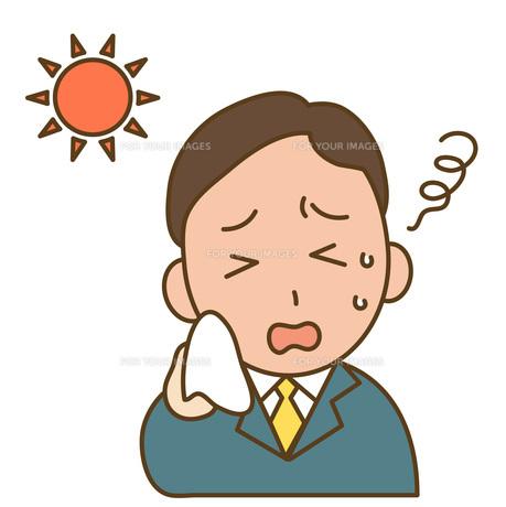 日射病のビジネスマンの写真素材 [FYI00075820]