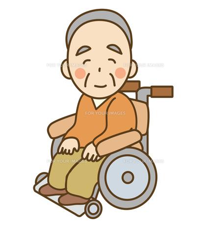 車椅子の高齢者の写真素材 [FYI00075824]