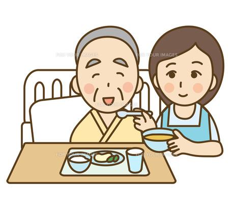 食事の介護の写真素材 [FYI00075837]