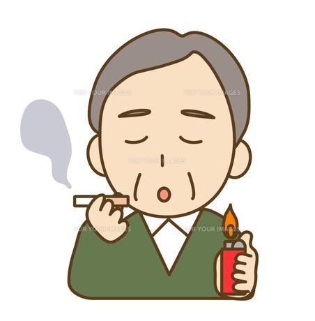タバコを吸う男性の写真素材 [FYI00075840]