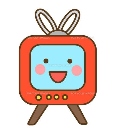 笑顔のテレビの写真素材 [FYI00075851]