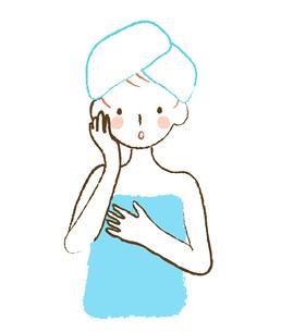 風呂上りの女性の素材 [FYI00075858]