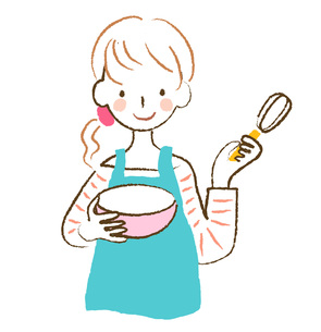 料理をする女性の素材 [FYI00075871]