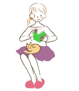 読書する女性の素材 [FYI00075875]