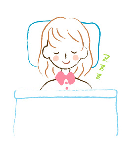 眠る女性の素材 [FYI00075877]