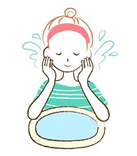洗顔する女性の素材 [FYI00075879]