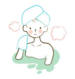 入浴する女性の素材 [FYI00075885]