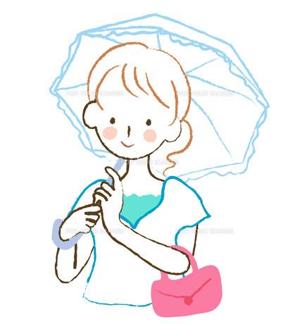 日傘をさす女性の素材 [FYI00075889]