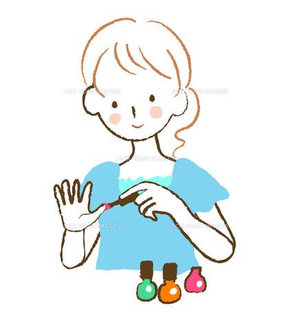 ネイルを塗る女性の素材 [FYI00075890]