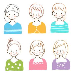 いろいろな女性の素材 [FYI00075919]