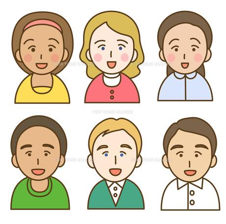 色々な人種の写真素材 [FYI00075944]