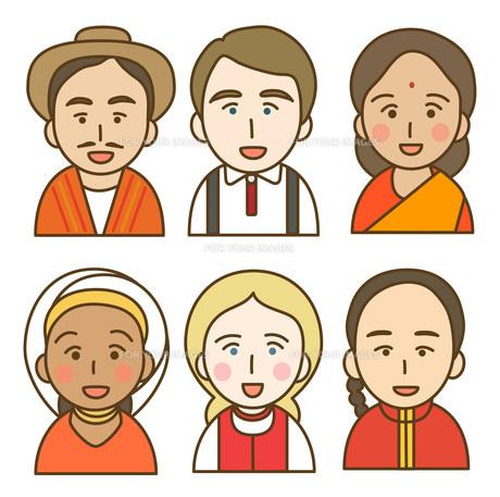 色々な民族衣装の写真素材 [FYI00075951]