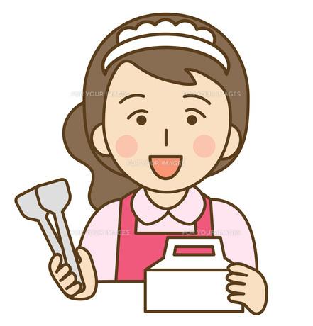 ケーキ店員の写真素材 [FYI00076000]