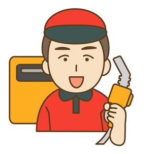 ガソリンスタンド店員の写真素材 [FYI00076006]