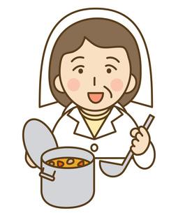 調理師のおばさんの写真素材 [FYI00076028]