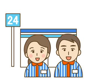 コンビニと店員の写真素材 [FYI00076034]