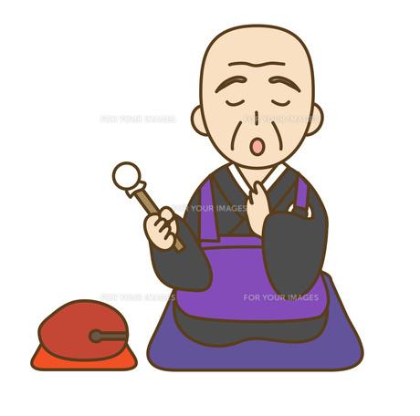 読経するお坊さんの写真素材 [FYI00076042]